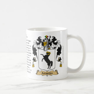 Armijo, the Origin, the Meaning and the Crest Coffee Mug