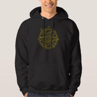 Armillary sphere hooded sweatshirt