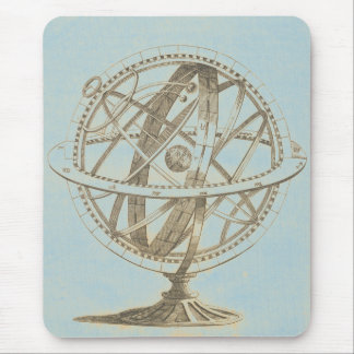 Armillary Sphere Original Sketch Mouse Pad
