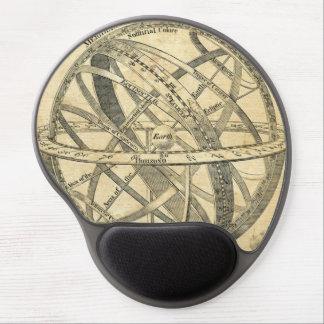 armillary sphere vintage steampunk illustration gel mouse pad