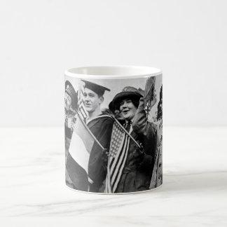 Armistice celebration.  Yanks and Tommie_War Image Coffee Mug