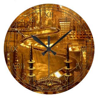 Armistice Futuristic City Large Clock