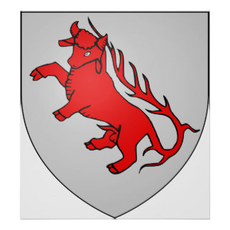 Armoiries Basse-Lusace Official Symbol Heraldry Print