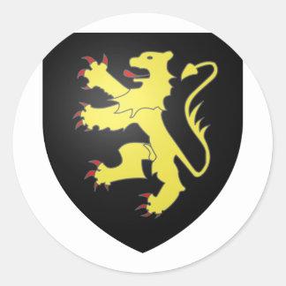 Armoiries Brabant, Belgium Round Sticker