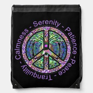 Armonía, balanza, símbolo de paz de la unicidad mochila