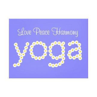 Armonía de la paz del amor de la flor de la yoga lona envuelta para galerias
