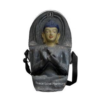 Armonía del amor de la paz con Buda Bolsas De Mensajeria