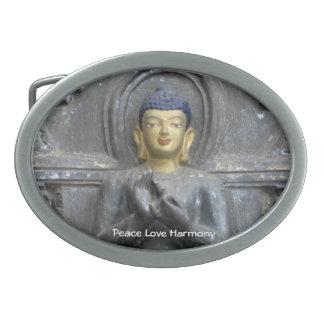 Armonía del amor de la paz con Buda Hebilla Cinturon