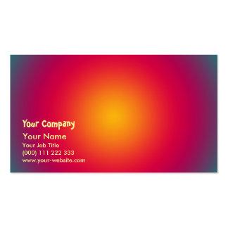 Armonía del color del sol naciente tarjetas de visita