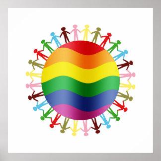 Armonía del mundo de LGBT Póster