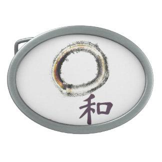 Armonía en la púrpura - zen Enso Hebilla Cinturon Oval