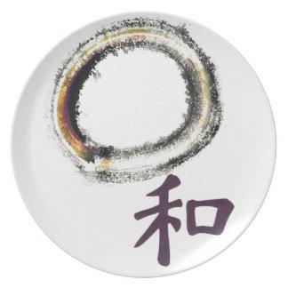 Armonía en la púrpura - zen Enso Platos