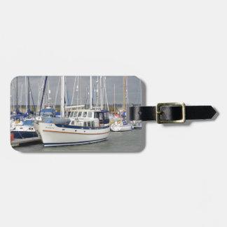 Armonía lujosa del marinero del motor etiquetas maleta