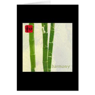 Armonía - marco negro felicitacion