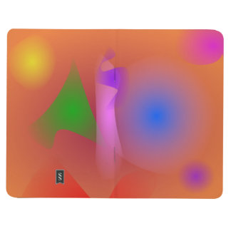 Armonía nebulosa de colores que ponen en contraste cuadernos