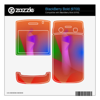 Armonía nebulosa de colores que ponen en contraste skins para BlackBerry