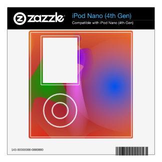 Armonía nebulosa de colores que ponen en contraste skins para iPod nano 4G