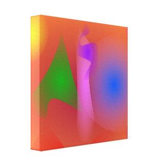 Armonía nebulosa de colores que ponen en contraste impresión de lienzo