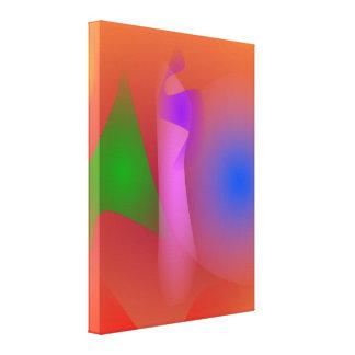Armonía nebulosa de colores que ponen en contraste lona estirada galerías