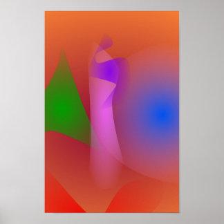 Armonía nebulosa de colores que ponen en contraste impresiones