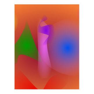 Armonía nebulosa de colores que ponen en contraste postal