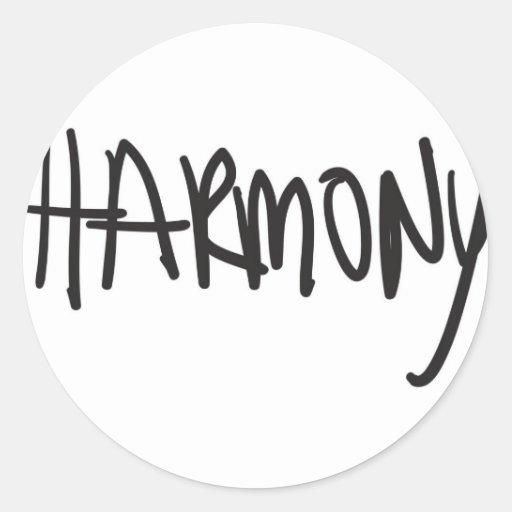 armonía pegatina redonda