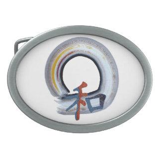Armonía - tablero del shikiski hebilla cinturón oval