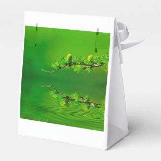 Armonía verde cajas para regalos de fiestas