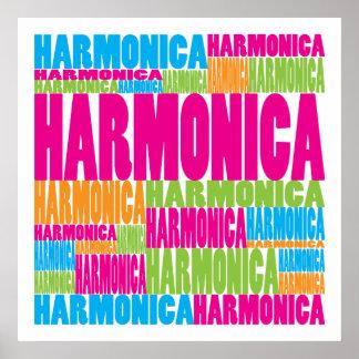 Armónica colorida póster
