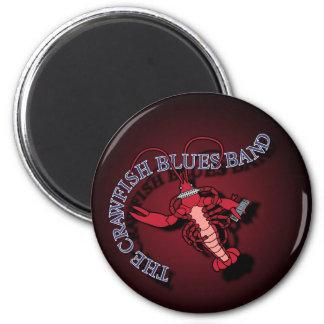 Armónica de la banda de azules de los cangrejos imán redondo 5 cm