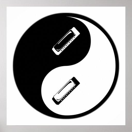 Armónica de Yin Yang Póster
