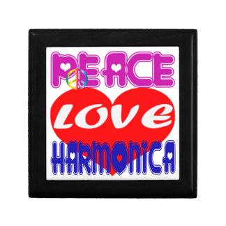 Armónica del amor de la paz caja de regalo
