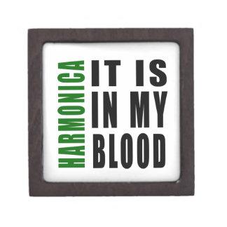 Armónica está en mi sangre caja de recuerdo de calidad