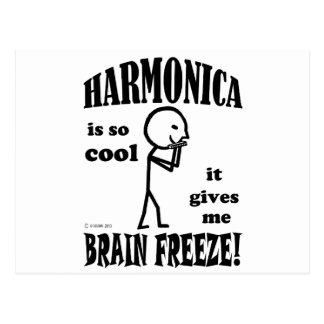 Armónica, helada del cerebro postales