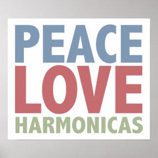 Armónicas del amor de la paz póster