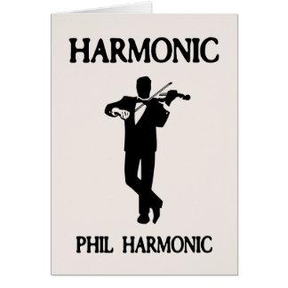 Armónico, armónico de Phil Tarjeta De Felicitación