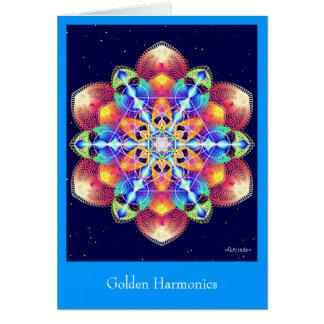 Armónicos de oro tarjeta de felicitación