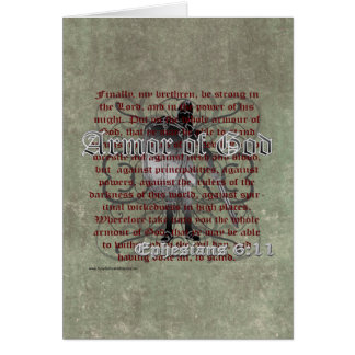 Armor of God, Ephesians 6:10-18, Christian Soldier Greeting Card