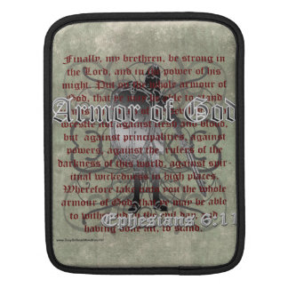 Armor of God, Ephesians 6:10-18, Christian Soldier iPad Sleeve