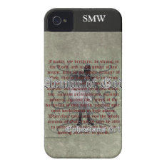 Armor Of God, Ephesians 6:10-18, Christian Soldier Iphone 4 Cover at Zazzle