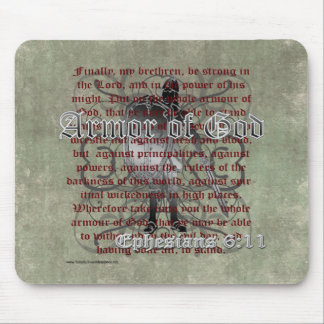 Armor of God, Ephesians 6:10-18, Christian Soldier Mouse Pad