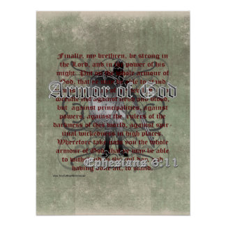 Armor of God Ephesians 6 10-18 Christian Soldier Print