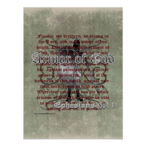 Armor of God, Ephesians 6:10-18, Christian Soldier Print