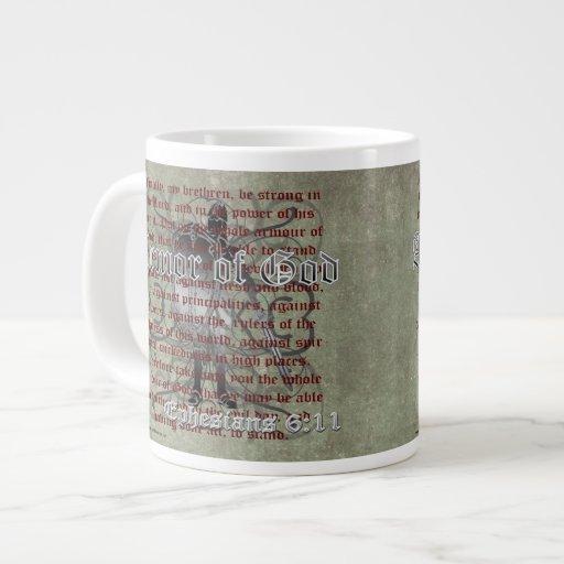 Armor of God, Ephesians 6:10-18, Christian Soldier Extra Large Mug