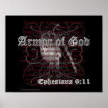 Armor of God Ephesians 6:11 Poster Print