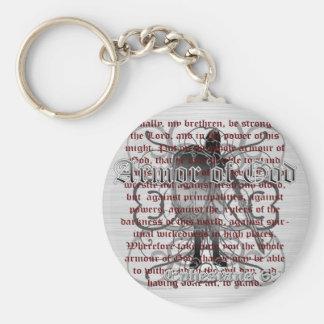 Armor of God Soldier Basic Round Button Keychain