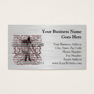Armor of God Soldier Business Card