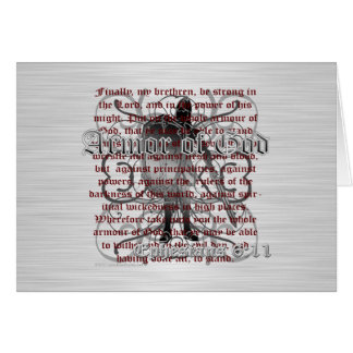 Armor of God Soldier Greeting Cards