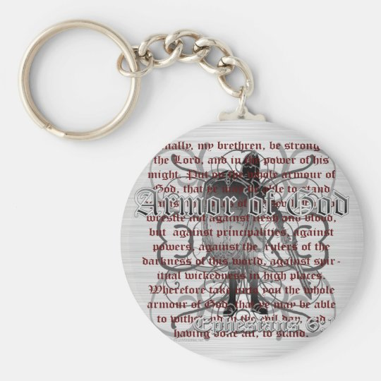 Armor of God Soldier Keychain