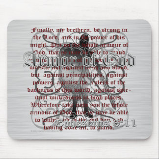 Armor of God Soldier Mouse Pad